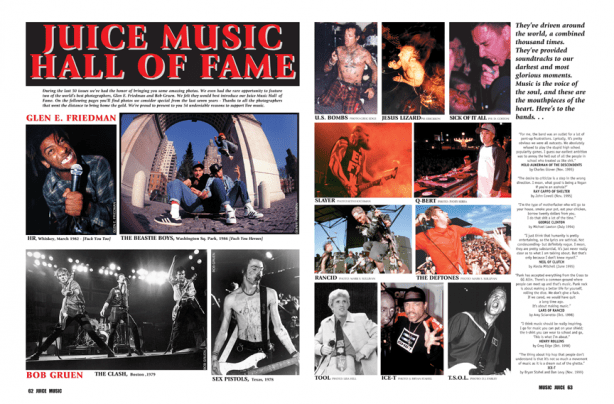 JUICE MAGAZINE MUSIC HALL OF FAME