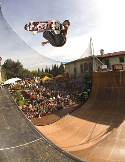 Tony Hawk spins high above the vert ramp, Tony Hawk's Project 8