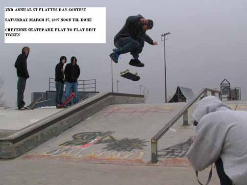 St Flattys Day Skate Contest