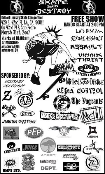 VSA Skate Contest Flyer 2007
