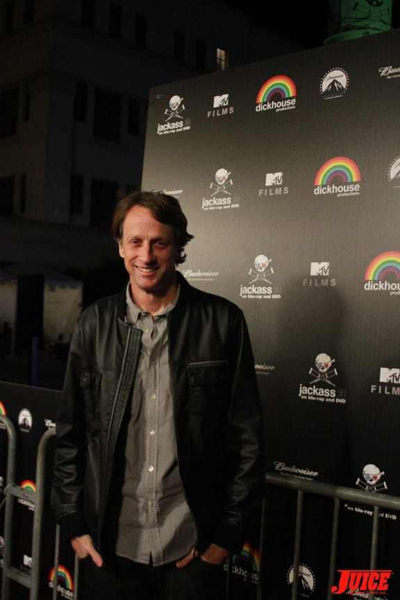Tony Hawk showed up. Photo: Dan Levy
