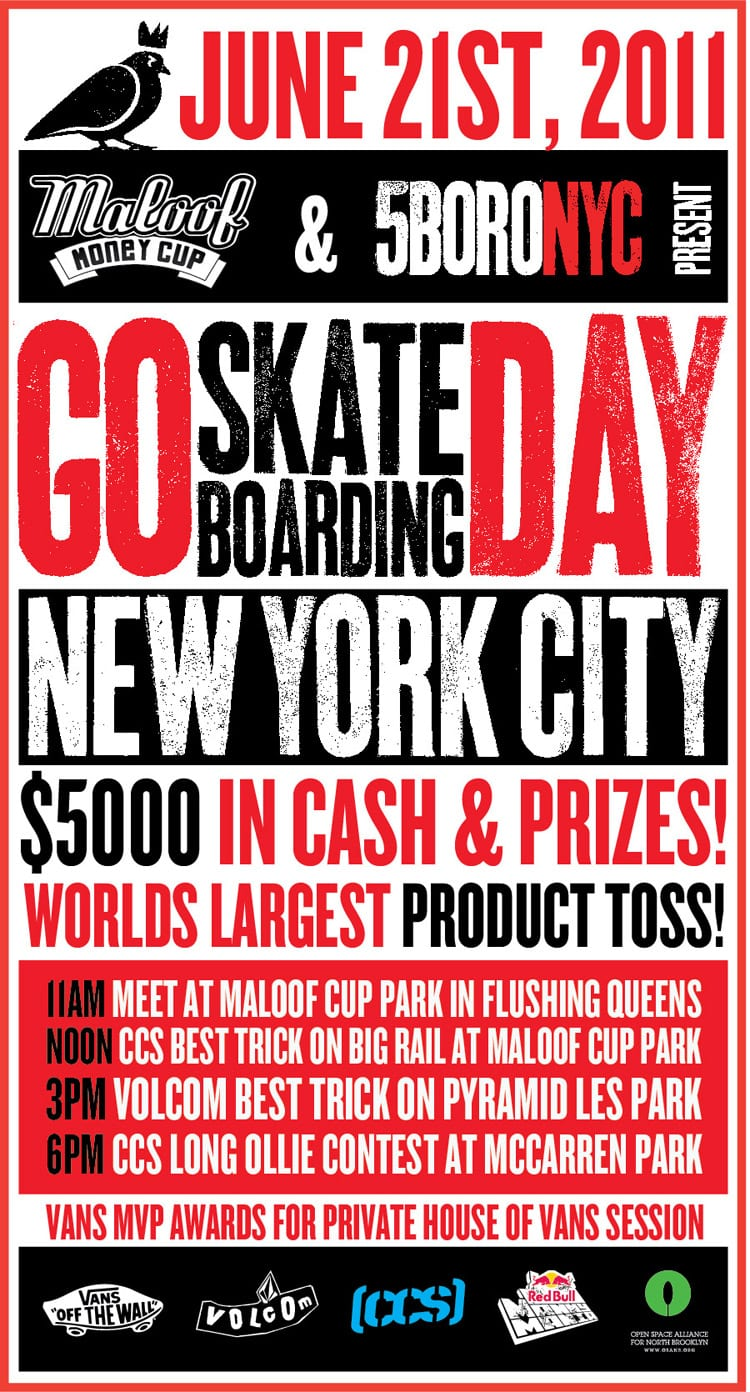 GO SKATEBOARDING DAY WITH 5 BORO x MALOOF MONEY CUP IN NYC