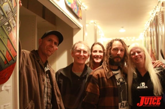 (l to r) C.R. Stecyk, Cris Dawson, Katie, Tony Alva, and Terri Craft
