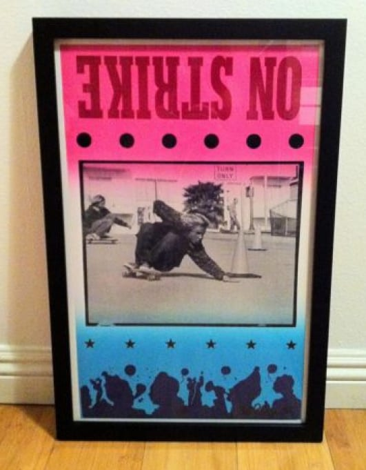 "C.R. Stecyk III ""On Strike"" Jay Adams Bicknell Hill 1974 Framed Print"