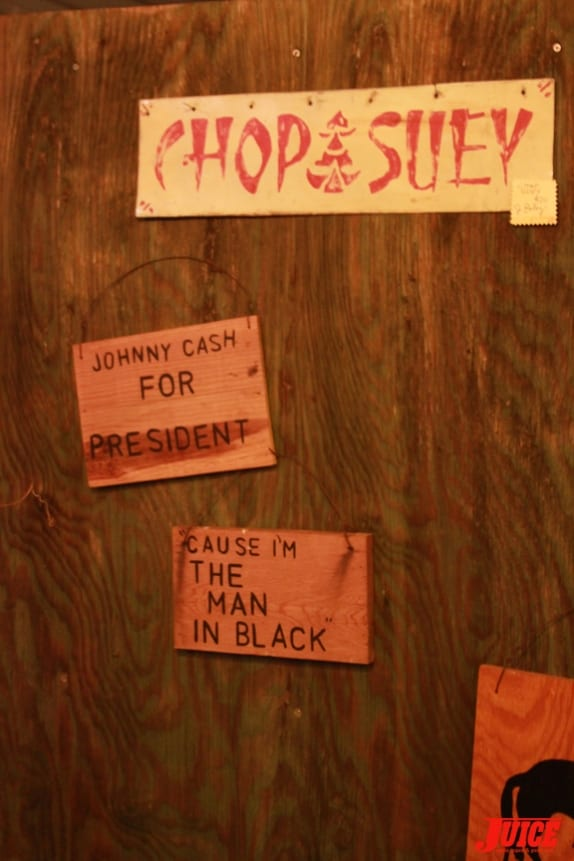 Johnny Cash for President. Photo: Dan Levy