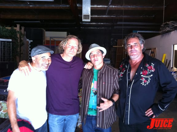Steve Caballero, Stacy Peralta, Christian Hosoi and Steve Olson. Photo: Dan Levy