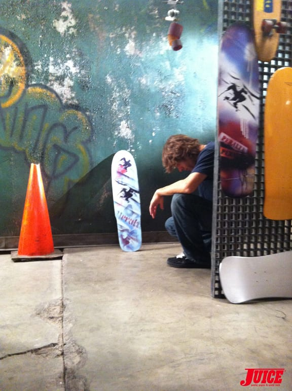 Rodney Mullen taking a break. Photo Dan Levy