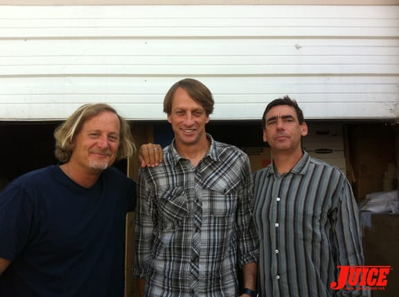 Stacy Peralta, Tony Hawk and Lance Mountain. Photo: Dan Levy