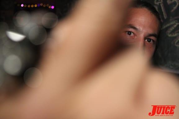 Derek Fukuhara and Chad Bartie's hand.
