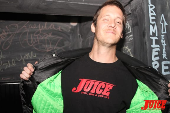 Caught this guy that works at the bar wearing a Juice shirt