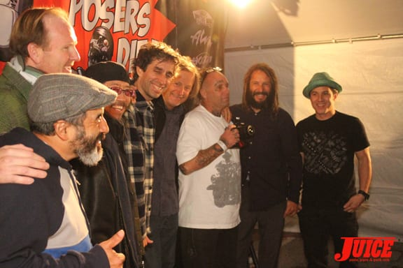 Cab, Muir, Ho, Friedman, Peralta, Adams, Alva, Hosoi. Photo: Dan Levy