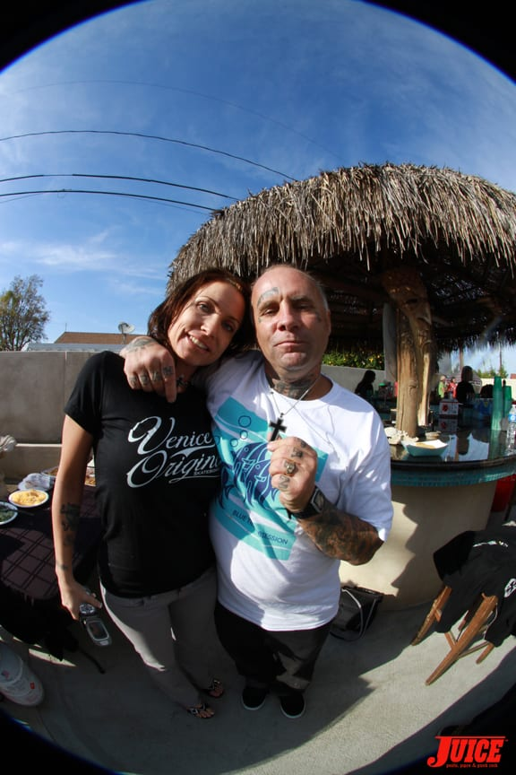 The newlyweds Jay Adams and Tracy Adams. Photo: Dan Levy