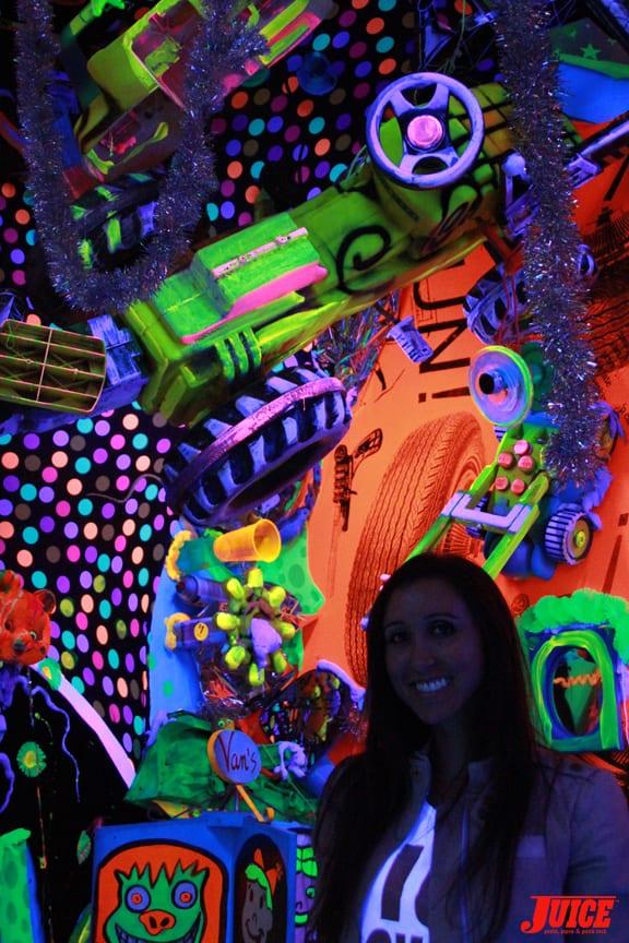 Vanessa Davey inside an installation. Photo: Dan Levy