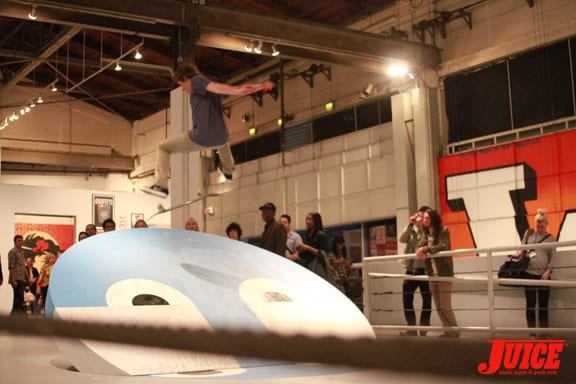 Flip Tricks At The MOCA. Photo: Dan Levy