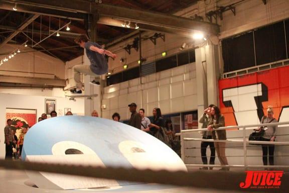 Skating at the Moca. Photo: Dan Levy