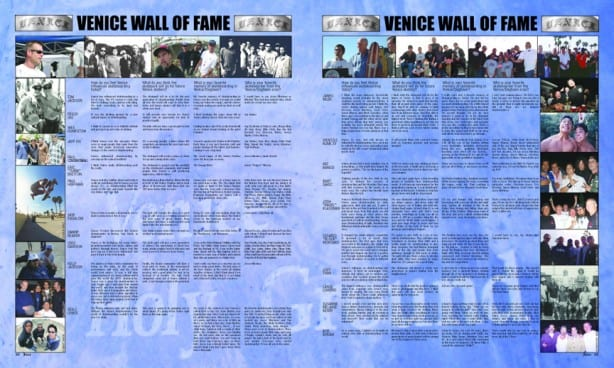 VENICE SKATE WALL OF FAME