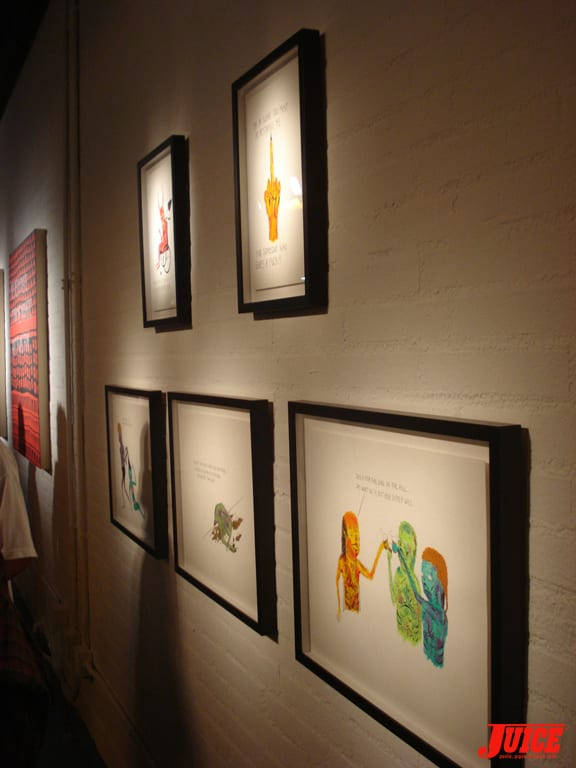 Part of the art show.