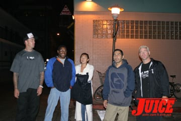 Jesse Martinez and homies. Photo: Dan Levy