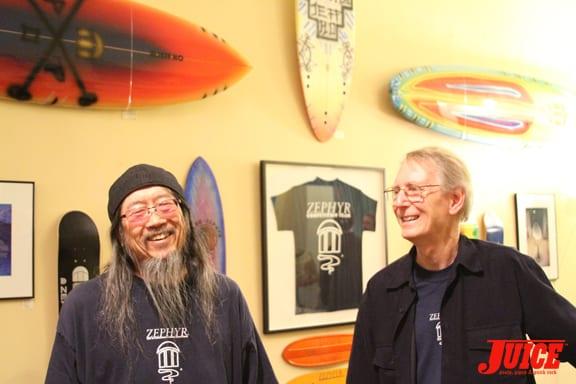 Jeff Ho and Cris Dawson having fun.