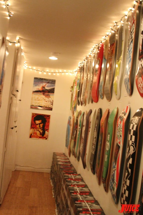 The State of Skate Wall and Hallway