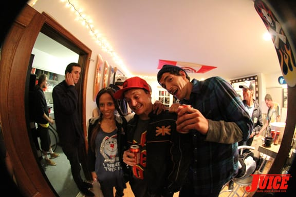 Andrea and boyfriend Jake Brown with Punker Johnny