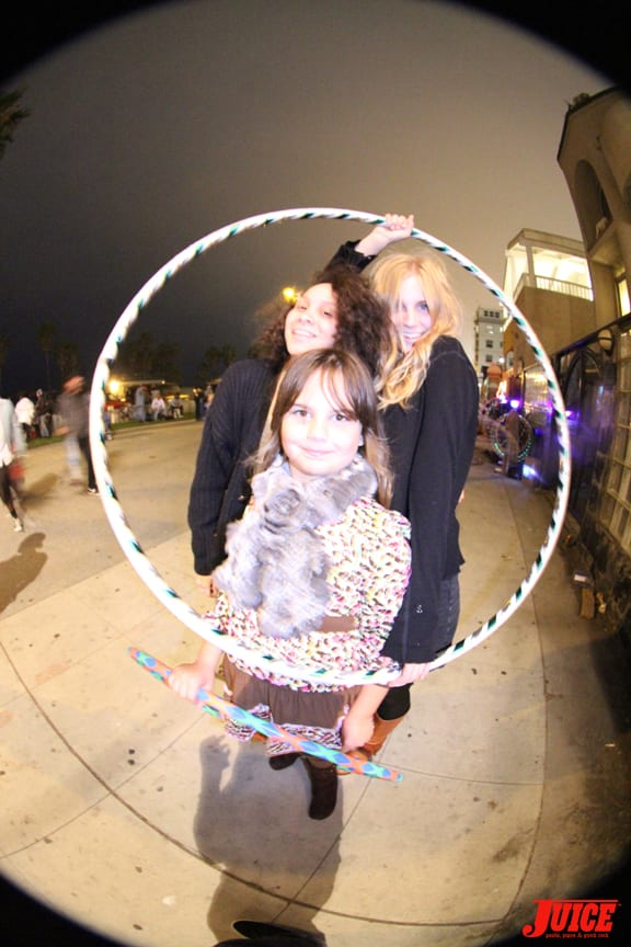 Joe's daughter and the hula hoop girls