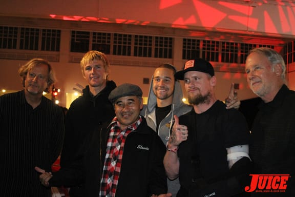 Stacy Peralta, Chad Bartie, Steve Caballero, Mike Vallely and George Powell.