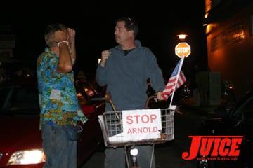 No Arnold. Photo: Dan Levy
