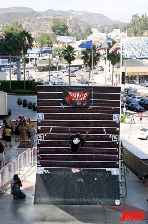 Eric Tuma Britton at the World Record Wall Ride