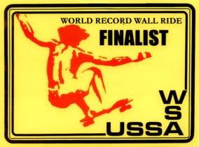 World Record Wall Ride Finalist WSA USSA