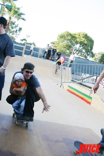 Bob and Lotus skate. Photo: Dan Levy