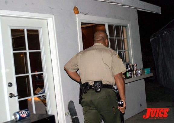 Cops at Carson. Photos: Dan Levy
