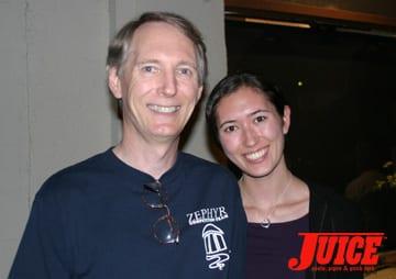Chris Dawson and Amy. Photo: Dan Levy