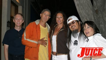 Chris Dawson, C.R. Stecyk, Jeff Ho and friends. Photo: Dan Levy