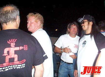 Ronnie Jay, Pat Kaiser, Paul Constantineau and Jeff Ho. Photo: Dan Levy