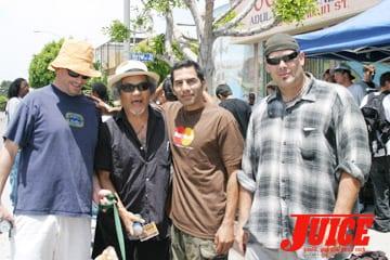 Pops Hosoi, Jesse Martinez and friends. Photo: Dan Levy