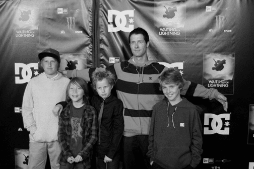 Danny Way and kids. Photo: Lance Lemond