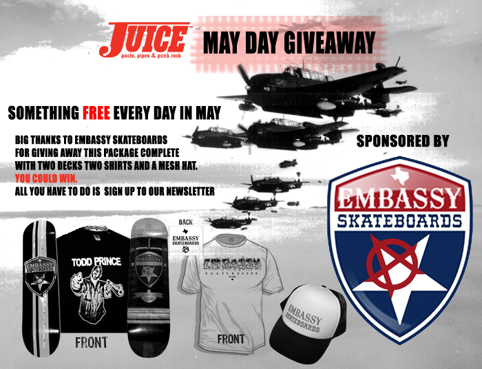 EMBASSY SKATEBOARDS GIVEAWAY