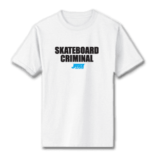 Juice Skateboard Criminal White Short Sleeve TShirt
