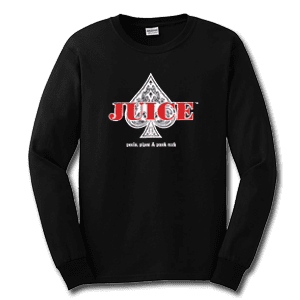 Juice Ace of Spades Black Long Sleeve TShirt