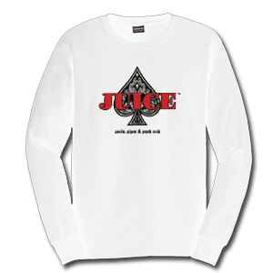 Juice Ace of Spades White Long Sleeve TShirt