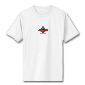 Juice Ace of Spades Mini Logo White Short Sleeve Tshirt