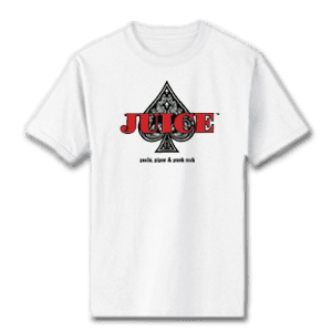 Juice Ace of Spades White Short Sleeve TShirt