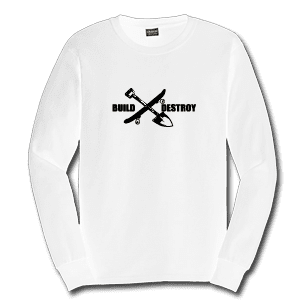 Juice Build and Destroy White Long Sleeve Tshirt