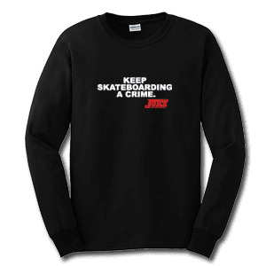 Juice Keep Skateboarding A Crime Black Long Sleeve TShirt