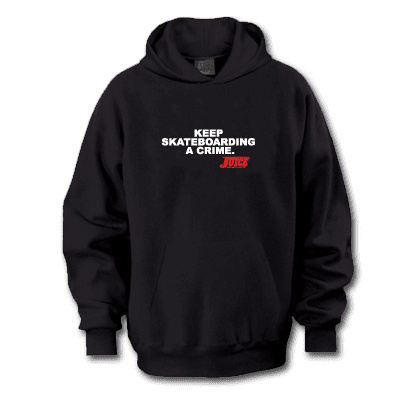 Juice Magazine Keep Skateboarding A Crime Pull Over Hoodie