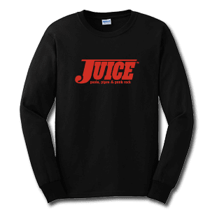 Juice Pools Pipes and Punk Rock Black Long Sleeve TShirt