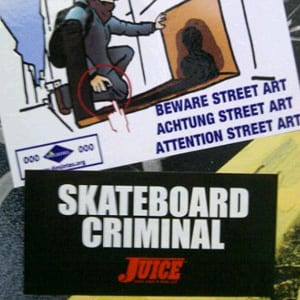 Juice Skateboard Criminal Sticker Pack