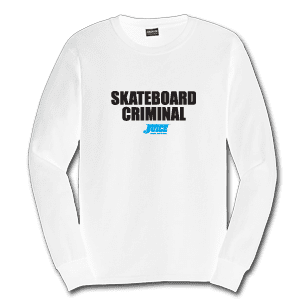 Juice Skateboard Criminal White Long Sleeve TShirt