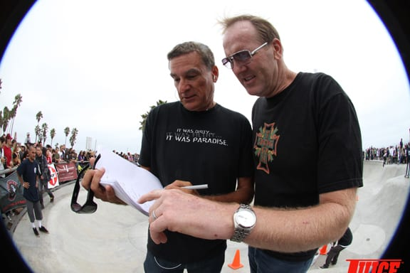 Nathan Pratt and Jim Muir. PHOTO: DAN LEVY